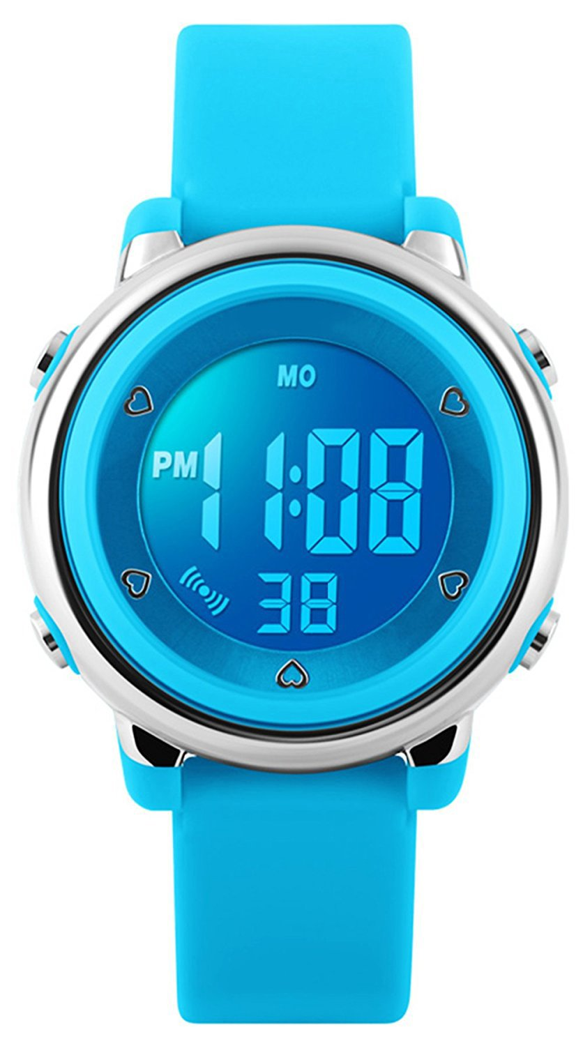 RSVOM Digital Watches for Boys Girls, Kids 5ATM Waterproof Sport Watch with Alarm/Date/Chronograph/7 LED Displays, Childrens Outdoors Sports Wrist Watches for Little Teenagers Boys