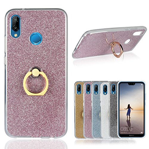 Funda® Ring Brackets Case for Huawei Nova 3E/Huawei P20 Lite(Pink)
