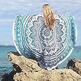 Blaue Mandala-Handwerk Quaste Runde Strandtuch Strand-Yoga-Matten-Schal-Schal Tapestry Chiffon Tischdecke Picknickdecke Schal