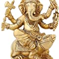 Hinduism Spirituality Lord Ganesha Statue Brass Indian Temple For Home 6 inch von ShalinCraft bei Du und dein Garten