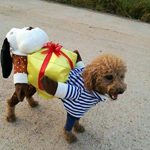dung Halloween Kostüm Festival Fancy Dress Up Lustiges Pet Geschenk Kleidung für Katze und Hund, Länge 32cm, Brust 41-47 cm, Hals 30-34 cm ()