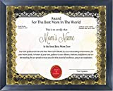 Best Mother Awards - Happy GiftMart Personalized Best Mom Award Certificate Review