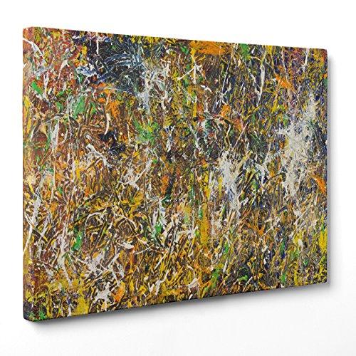Bild auf Leinwand Canvas–Gerahmt–fertig zum Aufhängen–Pollock STL–Abstrakte Kunst Abstrakt Dimensione: 100x152cm A - Senza Cornice (Jackson Kunst Pollocks Abstrakte)