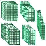 REFURBISHHOUSE40 PCB Pcs Scheda circuiti stampati per prototipi a doppia faccia | 5 Dimensioni Schede di circuiti stampati perforati non fissi universali | Saldatura DIY e progetto elettronico