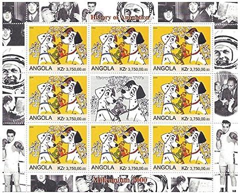 Livre Anime Blanche Neige - Histoire de timbres d'animation Disney 1960 pour