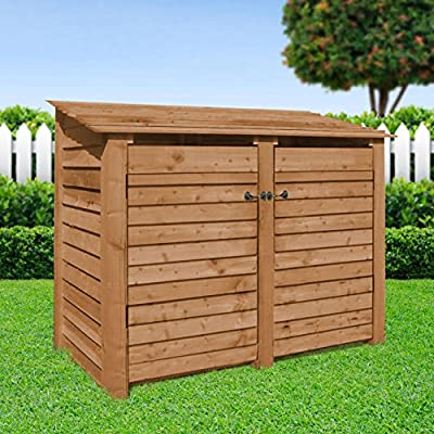 Cottesmore 4ft - Wooden Log Store/garden Storage, With Doors, Brown, Heavy Duty, Hand Made, Pressure Treated.
