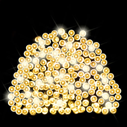 200 Warm White LED Solar Fairy Lights / Solar String Lights / Christmas Lights by SPV Lights: The Solar Lights & Lighting Specialists (Free 2 Year Warranty Included)