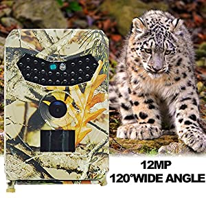 SONITECH Trail Camera 1080P Hunting Game Camera 12MP With with Infrared Night Vision 120°PIR, IP56 Waterproof