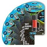 glowmax g-9rubr-bp1Gummierte 9LED Taschenlampe (6er Pack)