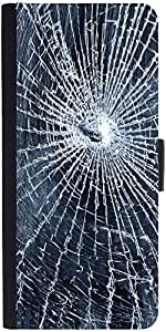 Snoogg Cracked Screen Designer Protective Phone Flip Case Cover For One Plus X