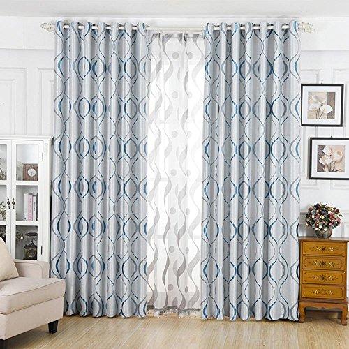 NACHEN Eyelet Fenster Vorhang verdicken Blackout Vorhänge für Schlafzimmer Wohnzimmer 2 Panels, Color 5, 300 * 270cm -