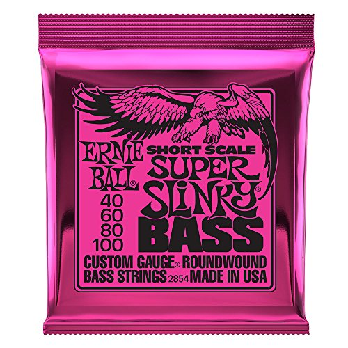 Ernie Ball Super Slinky Nickel gewickelt kurze Skala Bass Saiten - 45-100 Gauge