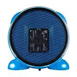 CATLXC Heizlüfter PTC -heizelement Energieeinsparung 500W Mit Netzstecker - Keramik Mini Heizung Thermostat - Klein Und Flexibel,Blue