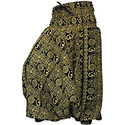 Shopoholic Fashion Om Print Loose fit Harem Trouser,Great Comfort Yoga Pants,Hippy
