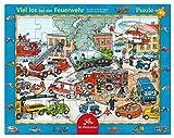 Spiegelburg Rahmenpuzzle Viel los bei der Feuerwehr (40 Teile)