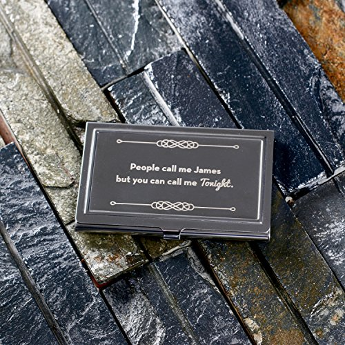 cairnstone personalizzata in acciaio inox Business Card Holder-Incisione personalizzata-Idea Regalo Migliore per Executive, per professionisti o clienti come Corporate Blacklist o articoli promozionali, No Box