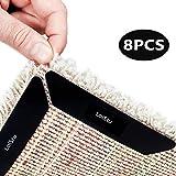 LoiStu Teppichgreifer Antirutschmatte wiederverwendbar Teppichunterlage Teppichstopper, starke Klebrigkeit und leicht zu