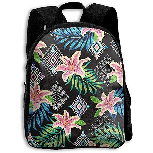 Zaino,zaino con fiori tropicali etnici, zainetto per bookbag per ragazzi adolescenti