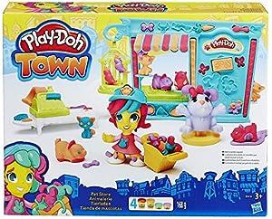 tienda mascotas: Play-Doh - Kit Tienda de Mascotas (Hasbro B3418EU4)