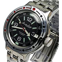 Vostok parafinoma 420640/2416B reloj para submarinistas militares rusos 200 m automático de color negro