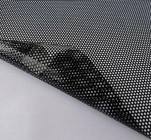 35x106cm Autoscheinwerfer perforiert Fenster Vinyl-Folie Klebstoff Tönungsnetz Spi Einweganblick Farbe schwarz