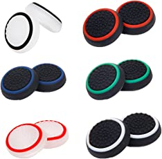 Segolike 6Pair Replacement Controller Joystick Thumbstick Cover Caps Grips for PS4