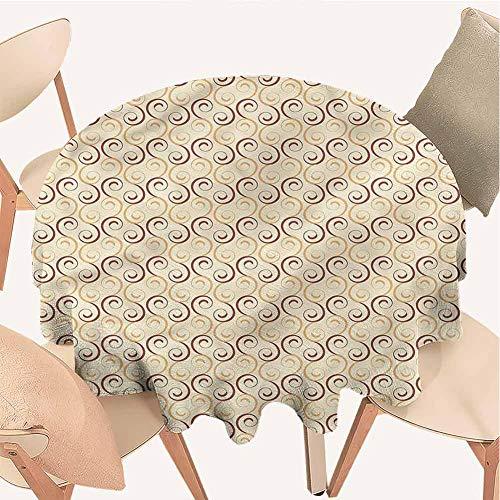 Petpany Schwarze Pailletten-Tischdecke, rund, Blumenmuster, für den Sommer, Garten, waschbare Tischdecke für Abendessen, Partys, Hochzeiten, Falten-Esstisch-Abdeckung, Vinyl, Color5, D36 inchs