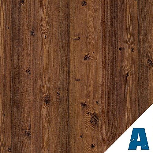 Artesive WD-052 Pino Scuro Doghe larg. 60 cm AL METRO LINEARE - Pellicola Adesiva in vinile effetto legno per interni per rinnovare mobili, porte e oggetti di casa