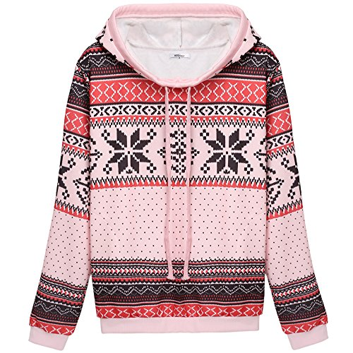 ZEARO Damen Sweatshirt Hoodies Sport Jacke Mantel Trainingsjacke Pullover Kapuzenpullover Shirt Rosa