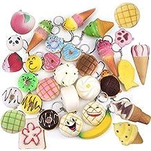 Squishy Juguete, Chickwin Randomly Jumbo Slow Rising Cute Squeeze Bread Cake Donuts ect juguete de alivio de estrés (10pcs)