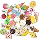 Squishy Toy, Chickwin zufällig Jumbo Slow Rising Cute Squeeze Brot Kuchen Donuts ect Stress Relief Spielzeug (10pcs)
