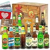 Bier Geschenkbox | 12x Bier aus der Welt & Deutschland | Weihnachtsset mit Bier