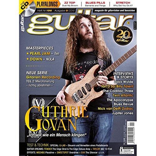 Guitar 9 2016 mit CD - Guthrie Govan - Interviews - Gitarre Workshops - Gitarre Playalongs - Gitarre Test und Technik