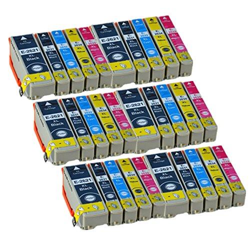 30 ECS Compatible Tinta Cartucho Reemplazar 26XL for Epson Impresora Expression Premium XP-510 XP-520 XP-600 XP-605 XP-610 XP-615 XP-620 XP-625 XP-700 XP-710 XP-720 XP-800 XP-820