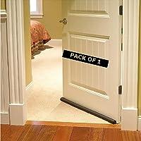 Zecva Door Seal for Only Wooden Door Twin Draught Draft Guard Door Closer Bottom Brown Sealing Strip Adjustable Door…