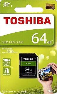 Toshiba 64 GB UHS I Class 10 SDHC Memory Card  Read Speed Upto 100 MB/s   64 GB