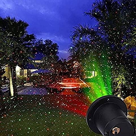 PONATIA Firefly Landscape Lights - Christmas Lights Spotlights Green Red IP65 Waterproof Dynamic Lamp Speed Adjustable Garden Starry Projector Outdoor Lighting for Garden Patio Backyard Holiday Decoration with Remote Controller