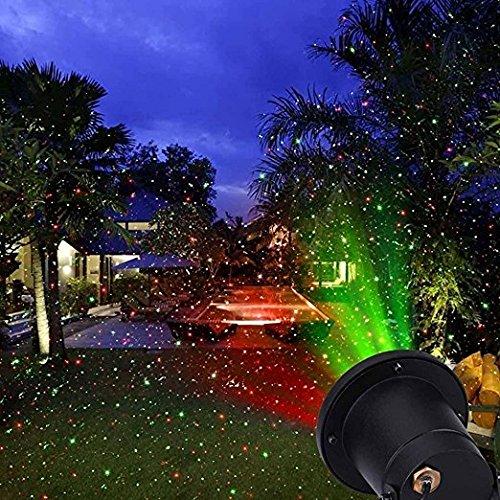 FEIYI Firefly Landscape Lights - Christmas Lights Spotlights Green Red IP65 Waterproof Dynamic Lamp Speed Adjustable Garden Starry Projector Outdoor Lighting for Garden Patio Backyard Holiday Decorati
