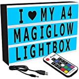MagiGlow Colour Changing Cinematic Light Box with 100 Characters, Black