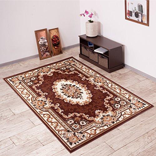 tappeto-salotto-classico-colore-marrone-disegno-persiano-di-inspirazione-orientale-morbido-facile-da