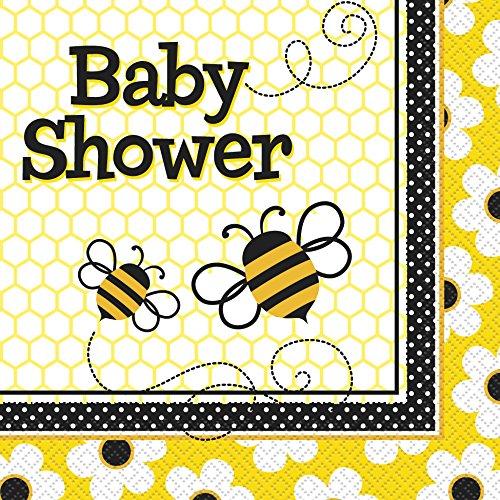Dusche Servietten, 16Stück (Bumble Bee Baby-dusche)