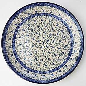 Polish Pottery 25cm Plate – Forget-Me-Not