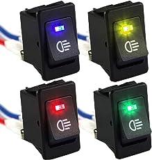 Futaba 4 Colors 12V 35A Car Fog Light Rocker Switch - Pack of Four