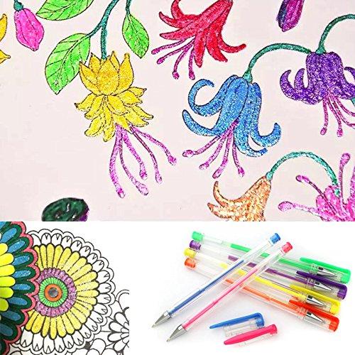 pergrate 100PCS/Set Kugelschreiber mehrfarbig Zeichnung Ausmalen Doodle Skizzenbuch Kugelschreiber...