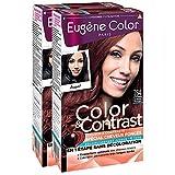 Eugène Color Color & Contrast Coloration Permanente pour Cheveux Foncés Acajou Rouge 7,64 - Lot de 2