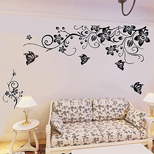 Xxl mural bannière fleurs vigne Murale Autocollant Bandes Déco