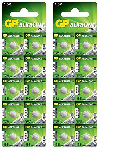 GP Batteries - Pack 20 Pilas alcalinas LR41 / AG3