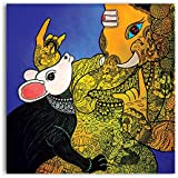 Tamatina Canvas Paintings - Abstract Ganesh - Modern Art Paintings - Ganesh Paintings For Wall - Paintings For Home Décor - Paintings For Living Room - Paintings For Bedroom - Religious Paintings - God Canvas Paintings - Painting For Living Room -