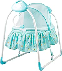 BAYBEE Electric Baby Music Sleeping Basket Bed (Blue)