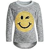 BEZLIT Mädchen Pullover Wende-Pailletten Pulli Sweatshirt 21518, Farbe:Grau, Größe:164